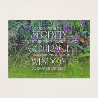 Serenity, Courage, Wisdom Prayer Card