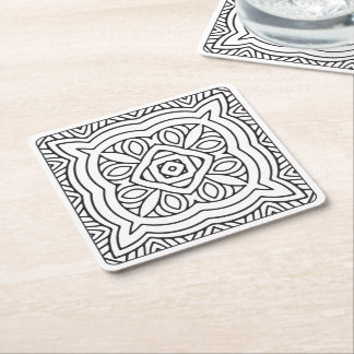 Serenity DIY Adult Coloring Disposable Coaster