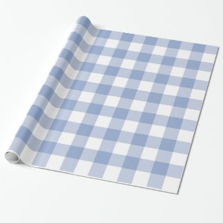 Serenity Gingham Wrapping Paper