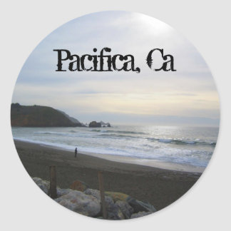 Serenity in Pacifica decal Round Sticker