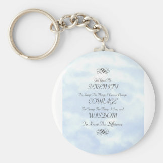Serenity in The Clouds Basic Round Button Key Ring