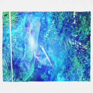 Serenity in the Garden Fleece Blanket