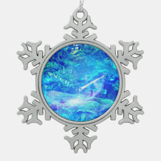 Serenity in the Garden Snowflake Pewter Christmas Ornament