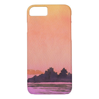 Serenity landscape Watercolor iPhone 7 Case