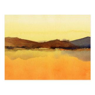 Serenity landscape Watercolor Postcard