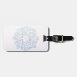 Serenity mandala luggage tag