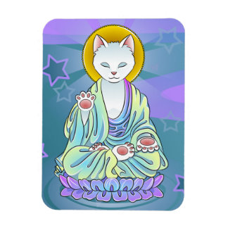 Serenity Meow Buddhist Cat Magnet
