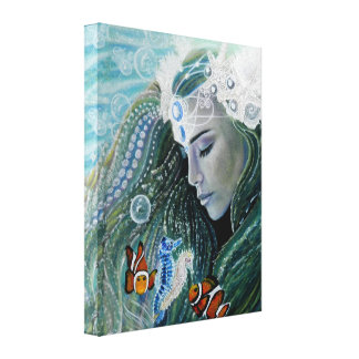 Serenity Mermaid Canvas Print