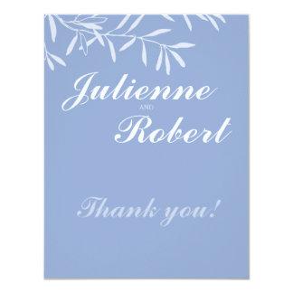 Serenity   Modern Wedding Thank You Card 11 Cm X 14 Cm Invitation Card