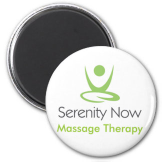 Serenity Now Massage Therapy 6 Cm Round Magnet