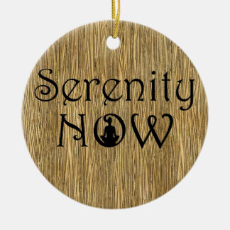 Serenity Now - Yoga Christmas Ornament