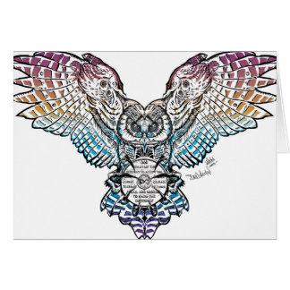 Serenity Owl Card
