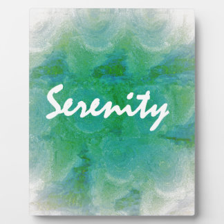 Serenity Plaque