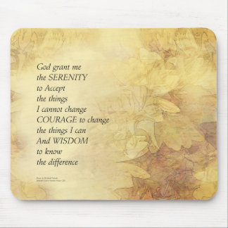 Serenity Prayer Abstract Sunflower Mouse Pad