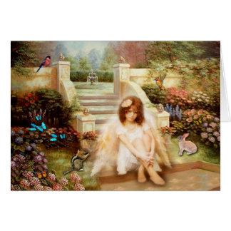 Serenity Prayer Angelic Garden Greeting Card