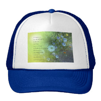 Serenity Prayer Bachelor's Buttons Cap
