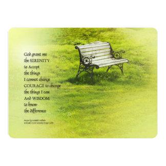 Serenity Prayer Bench 17 Cm X 22 Cm Invitation Card