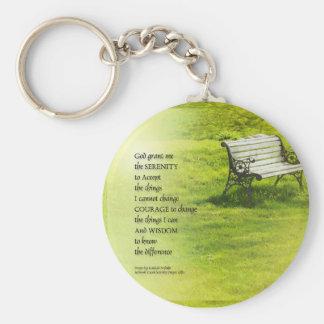 Serenity Prayer Bench Key Ring