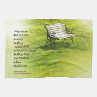Serenity Prayer Bench Tea Towel
