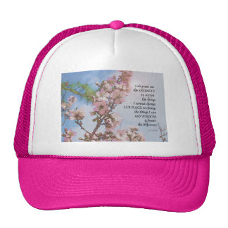 Serenity Prayer Blossoms Sky Tree Cap
