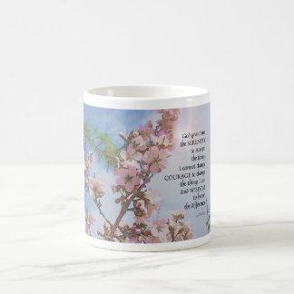 Serenity Prayer Blossoms Sky Tree Coffee Mug