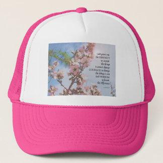 Serenity Prayer Blossoms Sky Tree Trucker Hat
