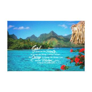 Serenity Prayer & Bora Bora Canvas Print