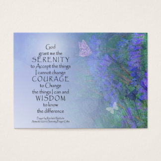 Serenity Prayer Butterflies & Vetch Business Card
