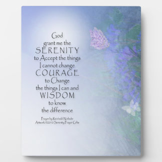Serenity Prayer Butterflies & Vetch Display Plaques