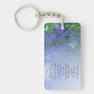 Serenity Prayer Butterflies & Vetch Key Ring