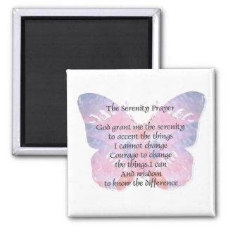 Serenity Prayer Butterfly 2 Magnet