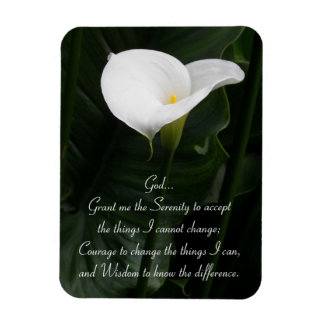 Serenity Prayer Calla Lily Floral Magnet