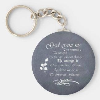 Serenity Prayer Chalkboard Gifts - trendy vintage Key Ring