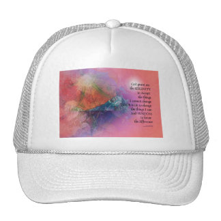 Serenity Prayer Collage Orange Pink Cap