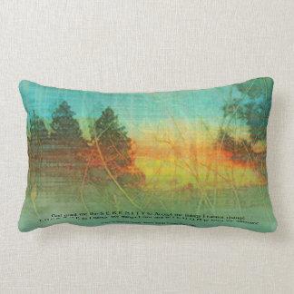 Serenity Prayer Colorful Trees American MoJo Pillo Lumbar Pillow