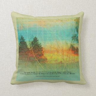 Serenity Prayer Colorful Trees American MoJo Pillo Throw Pillow