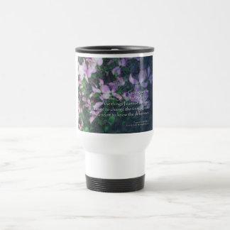 Serenity Prayer Dogwood Travel Mug