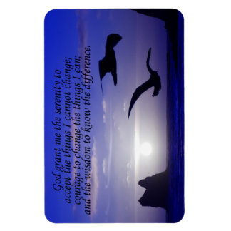 serenity prayer double bird blues photo magnet