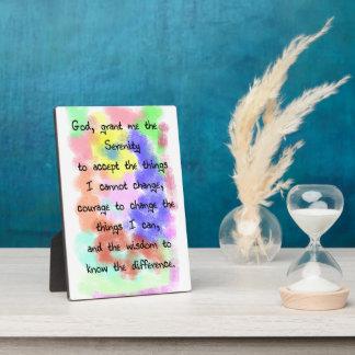 Serenity Prayer Easel Plaque