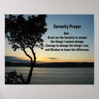 Serenity Prayer Evening Sunset Photo Poster