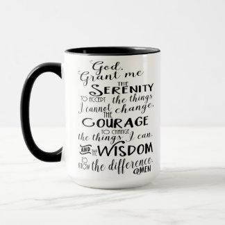 Serenity Prayer Faith Coffee Mug