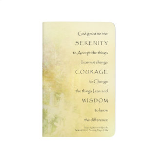 Serenity Prayer Fences and Flowers Journal