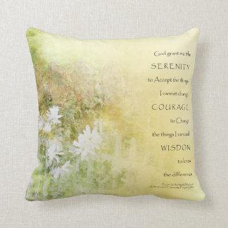Serenity Prayer Fences Flowers American MoJo Pillo Throw Cushion