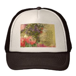 Serenity Prayer Floral Collage Cap