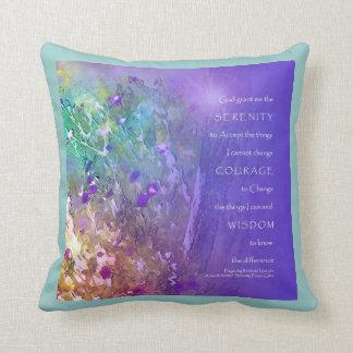 Serenity Prayer Flowers and Tree American MoJo Pil Throw Pillow