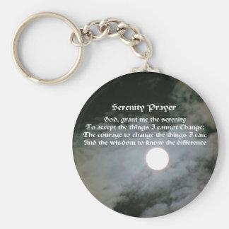 Serenity Prayer Full Moon Keychain