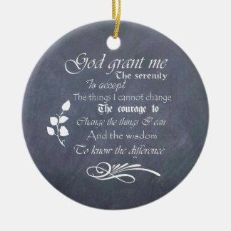 Serenity prayer gift chalkboard retro ceramic ornament