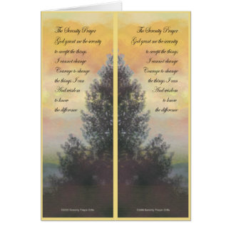 Serenity Prayer Gifts Yellow Sky Bookmark Card