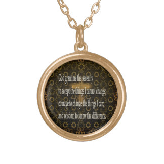 Serenity Prayer Gold Plated Necklace