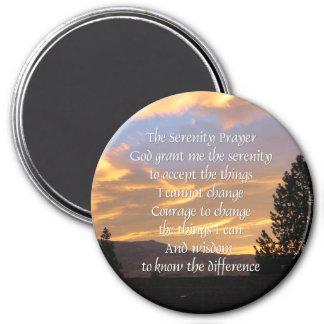Serenity Prayer Golden Circle 7.5 Cm Round Magnet
